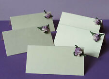 Ivory Wedding place name cards. Packs of 10. Flower decoration. 2 choices.Value!