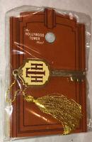 Disney Hollywood Tower Of Terror Hotel Key W Tassel Pin On Card