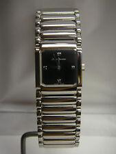 Vintage Jean Vernier Women's Stainless Steel Wristwatch Black Face - New