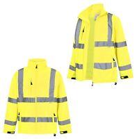 Hi Viz Yellow Windproof & Waterproof Outdoor Soft Shell Jacket |S-3XL|