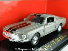 SHELBY GT 500-KR 1968 MODEL SPORTS CAR 1/43RD GREY PACKAGED ISSUE BXD K8967Q~#~