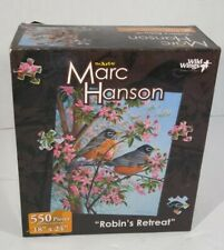 """Wild Wings The Art Of Marc Hanson 500 Piece Puzzle """"Robins Retreat"""" New 18 x 24"""