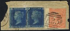 GB Used Abroad in Malta 1869 2d Blue SG 46 / Z34 Pl 13 OK OL A25 Duplex with 4d
