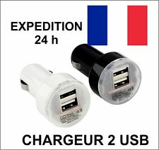 CHARGEUR USB 3.1A  VOITURE DOUBLE 2 PORTS ALLUME CIGARE ANDROID APPLE