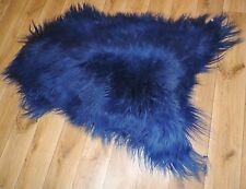 Real Premium Iceland Sheepskin Sheepskin Lambskin fur Top Dark Blue 39 3/8in