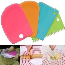 3pcs Plastic Cake Butter Pastry Cookie Dough Scraper Decor Cutter DIY Tools