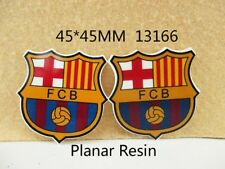5 x 45MM FC BARCELONA FOOTBALL CLUB FLAT BACK LASER CUT RESIN HEADBANDS BOWS