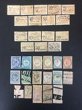 FRANCE - lot de 33 timbres fiscaux