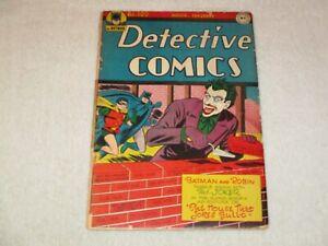 DETECTIVE COMICS 109 JOKER COVER!!! DC 1946