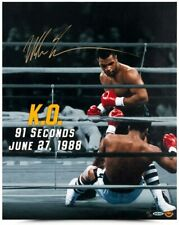 """MIKE TYSON Autographed """"91 Seconds"""" 16"""" x 20"""" Photograph UDA LE 20"""