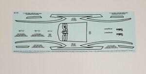 MPC 1/25 1972 PONTIAC GTO DECAL SHEET