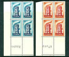 Luxembourg 1956, Europa, Mi#556-557, YV# 514-516, 2 Block of 4 Marginal MNH 1027