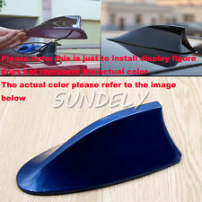 Blue Car Radio FM/AM Signal Aerial Shark Fin Antenna Universal For Toyota Yaris