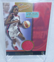 2002 Fleer Authentix WNBA Sheryl Swoopes Auth Game Worn Jersey Relic Card COMETS