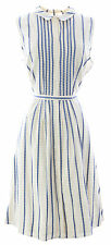 BODEN Women's White Monte Carlo Embroidered Dress WH639 US Sz 10R $155 NWOT