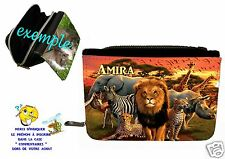 portefeuille afrique anilaux personnalisable avec prénom réf 18