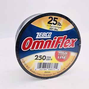 Zebco OmniFlex Monofilament Fishing Line 25 lb 250 YD CLEAR Abrasion Resistant