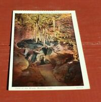 Antique Linen Postcard Entering the Valley of Dreams Cave of the Winds Manitou