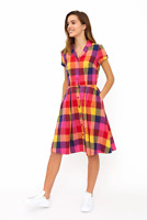 Emily and Fin Kate Dress Sunset Plaid