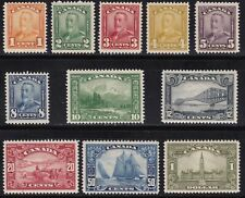 1928-29 Canada - Sg 275-285 Set Of 11 Mlh /High Value Signed A. Diena