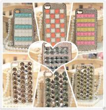 Cover rigida con varie forme strass in cristal colori a scelta per Iphone 4 e 4S