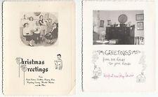 [57138] LOT OF 2 Circa 1950 PHOTO CHRISTMAS GREETING CARDS