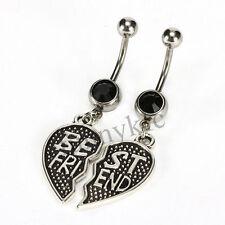 2pc Best Friends Black Belly Navel Ring Body Piercing Jewelry USA Shipper #268