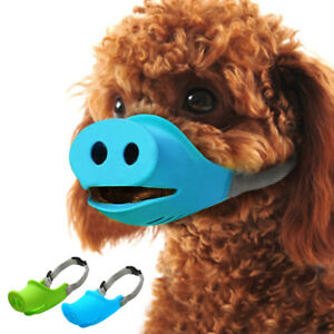 Soft Rubber Dog Muzzle Small Anti Bark Bite Cute Pig Mouth for Pets Puppy Breed
