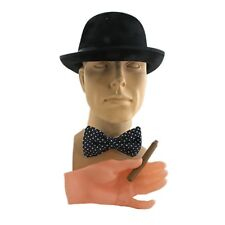 Winston Churchill Costume Kit Black Derby Hat Fake Cigar Bow Tie 3 PC Kit