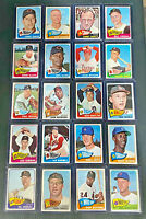1965 Topps Baseball Card Vintage Lot of 20 Cards