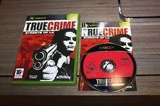 True Crime Streets of LA para XBox 360 con Caja e Instrucciones