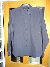 GEORGE NAVY SHIRT WITH TINY SPOTS SIZE LARGE