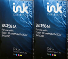 2 Compatible  Ink Cartridge  to replace T5846 for PictureMate 200 240 26 280