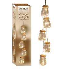 Set Of 5 Vintage Mini Bottle Jar Indoor String Lights 15 Warm White LED Bulbs
