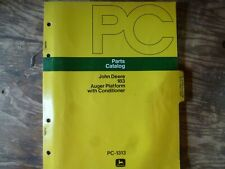 John Deere 183 Auger Platform with Conditioner Parts Catalog Manual Book Pc-1313