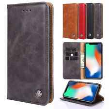 For LG G7 ThinQ G6 G5 LG Q7 V30 Luxury Business Flip Wallet Leather Cover Case