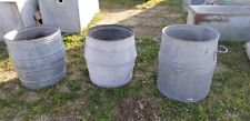 English Dolly Drum, Industrial Rustic Bucket, Vintage Dolly Tubs