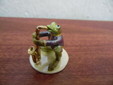 Hagen Renaker Sax Player Frog 3291 Figurine Miniature FREE SHIPPING NEW