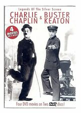 Charlie Chaplin & Buster Keaton: Legends of the Silver Screen Dvd with 4 Movies