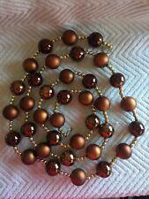 Brown Plastic Bead Christmas Garland 6'