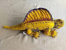 "Vtg Applause 1992 Dimetrodon Dinosaur Yellow 16"" Beanbag Plush"