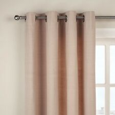 John Lewis Cotton Rib Lined Eyelet Curtains, Putty ,New  size 150 x 228