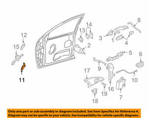 Door Hinge-Lower Right Ford Focus 00 - 07 OEM Ford 6S4Z5422800AA