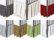 Full Ruffled Bed Skirt with Split Corner 100% Microfiber Three Sided Coverage