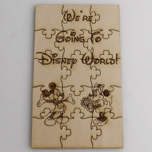 We're Going To Disney World Puzzle - Basswood Lasered Jigsaw Puzzle Surprise