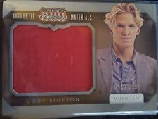 2015 Donruss Americana Cody Simpson Materials Celebrity-Worn Relic 319/299