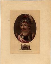 Stampa antica RITRATTO di EURICO re dei Visigoti 1807 Old antique print