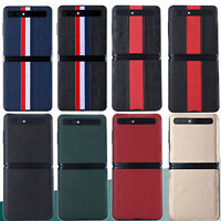 Case for Samsung Galaxy Z Flip Genuine Leather Protective Phone Back Cover