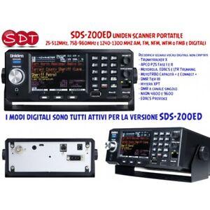 SDS-200ED Uniden Scanner Portable 25-512MHz, 758-960MHz Et 1240-1300 MHZ Am, Fm
