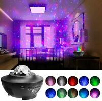 2 in 1 Starry Ocean Wave Projector Star Night Light with Bluetooth Music Speaker